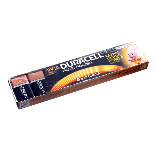 Batteries 9V Duracell (Pack of 8)