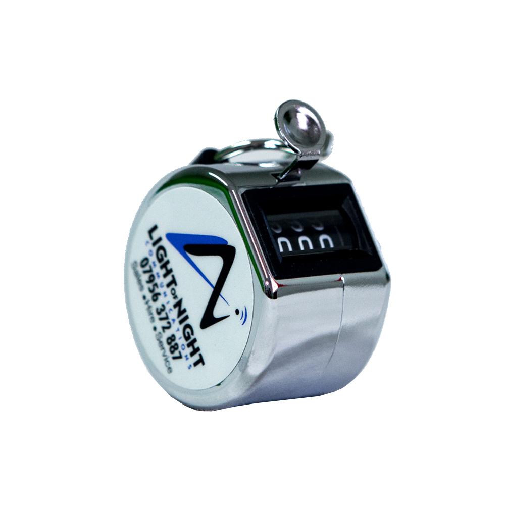 SINGLE METAL HAND TALLY COUNTER -  (CHROME COLOUR)