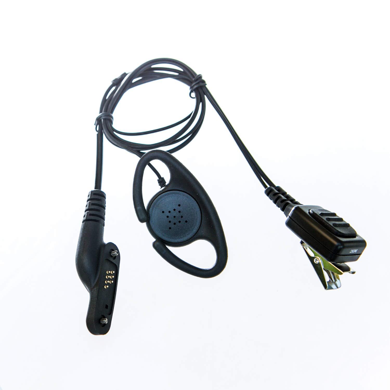 Adjustable D shape Earpiece with mic for Vertex/ Yaesu radio (plug with 2 screws)