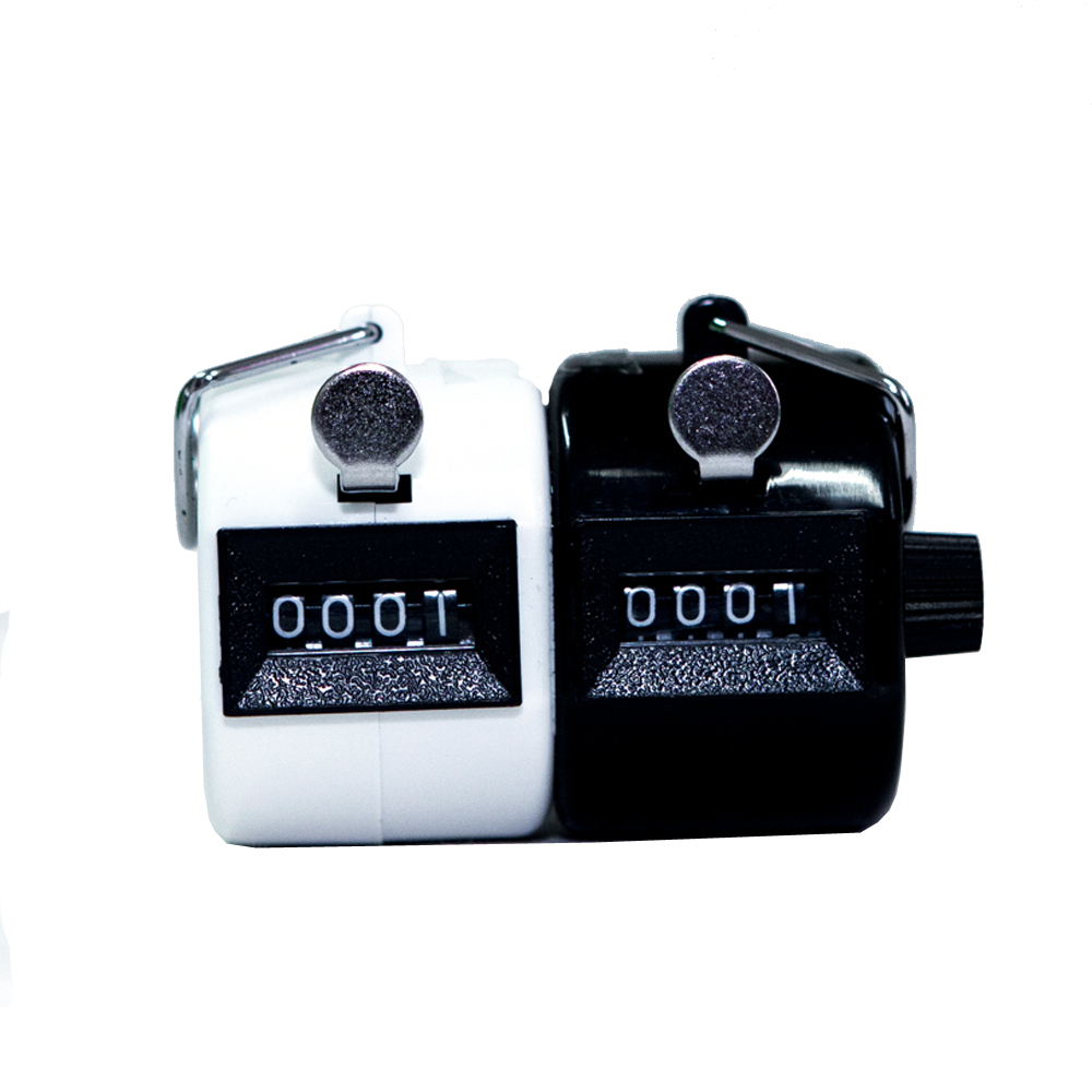 PLASTIC DOUBLE HAND TALLY COUNTERS - (WHITE & BLACK)