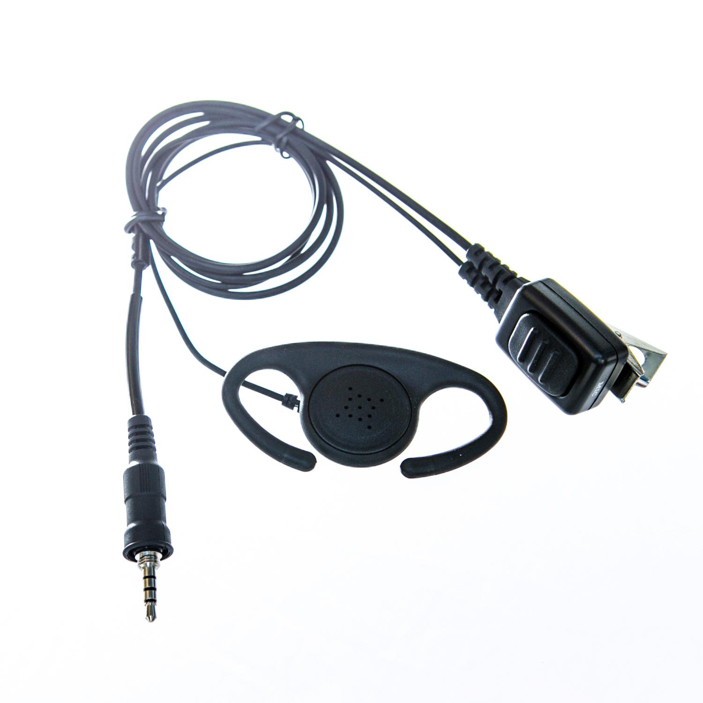 Adjustable D shape Earpiece with mic for Vertex/Yaesu radio (single pin)