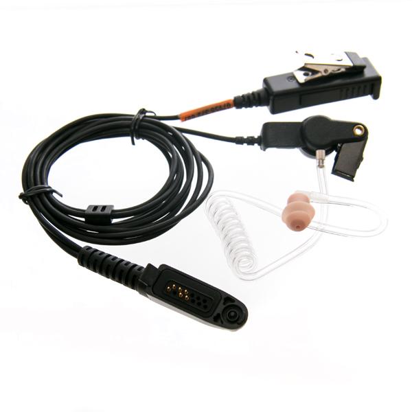 Earpiece Covert with mic for Motorola GP344 radio (plug)