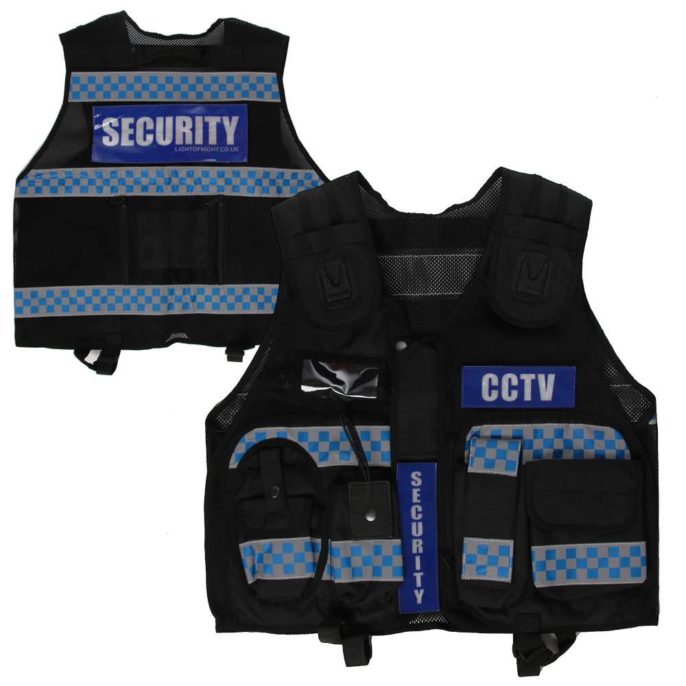 SUPERIOR - HIGH VISIBILITY CHECKERED VEST (BLACK)