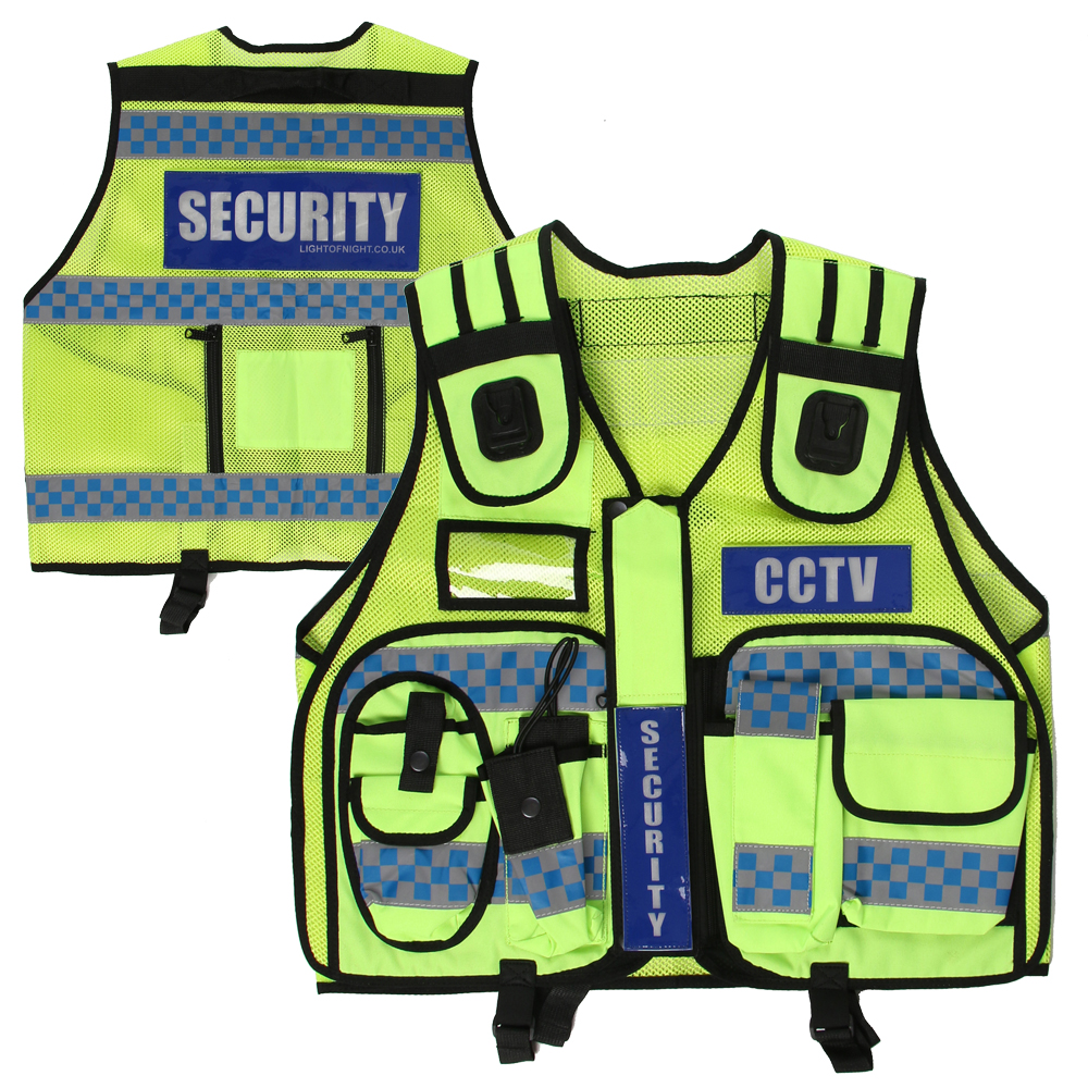 SUPERIOR - HIGH VISIBILITY CHECKERED VEST (YELLOW)